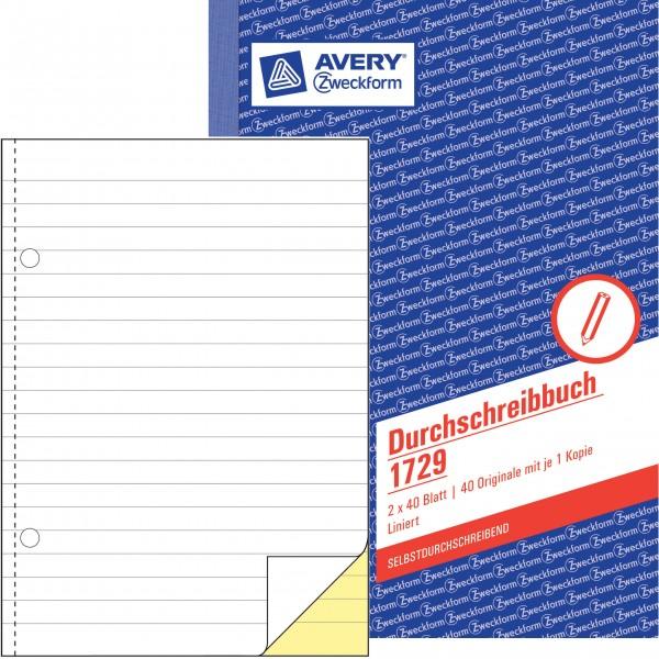 Zweckform Durchschreibebuch A5 2x 40 Blatt SD liniert, **Restposten, begrenzte Menge**