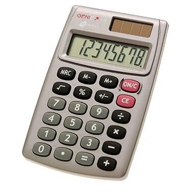 Taschenrechner GENIE® 510 8-stellig grau Solar-Energie, Batterie
