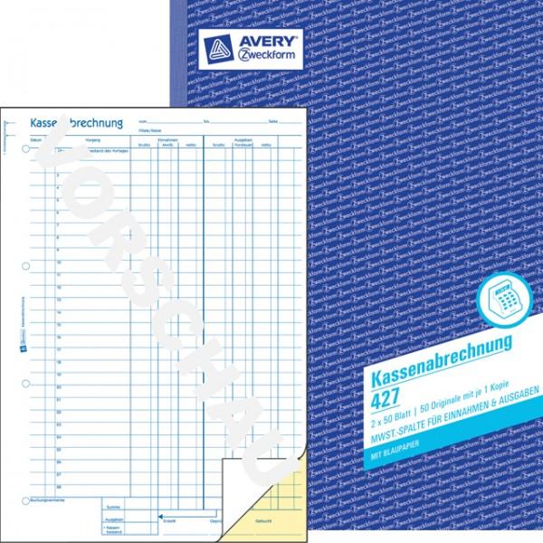 Zweckform Kassenabrechnung A4 2x 50 Blatt
