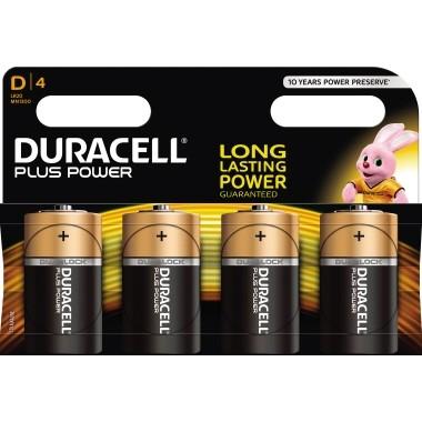 Batterie Mono Duracell Plus Power LR20 4 St./Pack Alkaline 1,5V