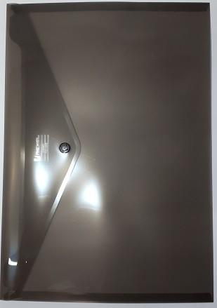 Aktentasche A4 mit Druckknopf rauchglas Carry Folder