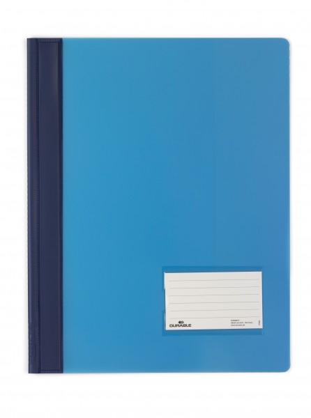 Schnellhefter A4 DURALUX blau Überbreite mit Innnentasche