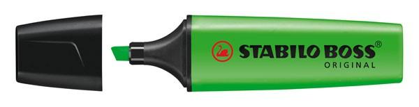 Textmarker STABILO BOSS ORIGINAL grün Nr.33 Keilspitze Strichstärke: 2-5 mm