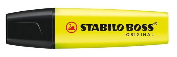 Textmarker STABILO BOSS ORIGINAL gelb Nr.24 Keilspitze Strichstärke: 2-5 mm