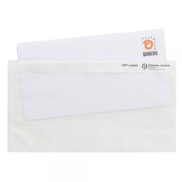 Dokumententaschen DIN Lang blanko Pergamin Papier, 250 St.Pack,Wihedü