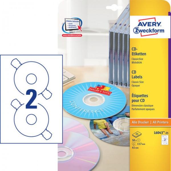 KOPIER/LASER ETIKETT 117MM Ý FÜR CD 50 STÜCK WEISS