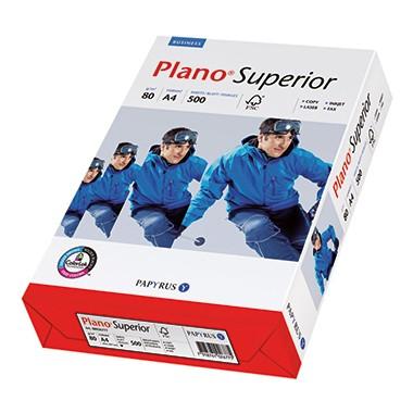 Kopierpap. A4 80g/m² Plano Superior 500 Bl./Pack Laserdrucker, Inkjetdrucker, Kopierer, Faxgeräte