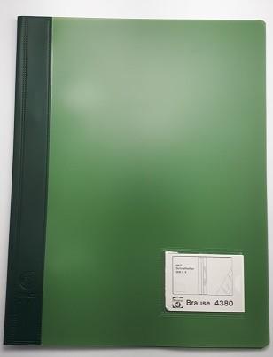 Schnellhefter Plastik A4 grün Deckel grün