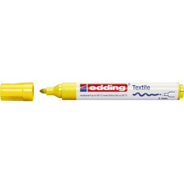 Edding 4500 Textilmarker gelb Strichstärke 2-3 mm , Rundspitze