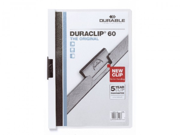 Klemmappen A4 Duraclip 60 für 60 Blatt weiß 02