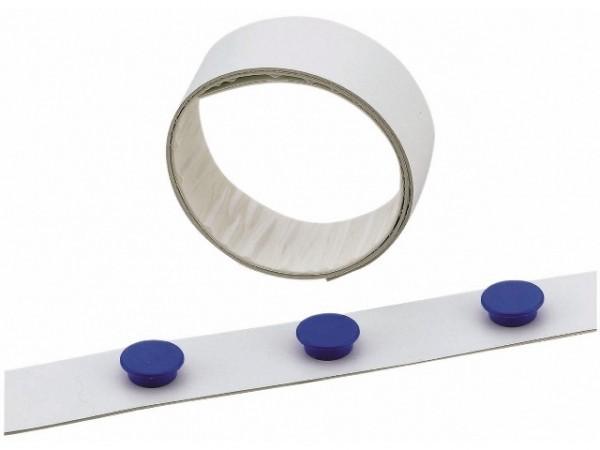 Magnetband 35mmx5m selbstklebend weiß zuschneidbar , Metall