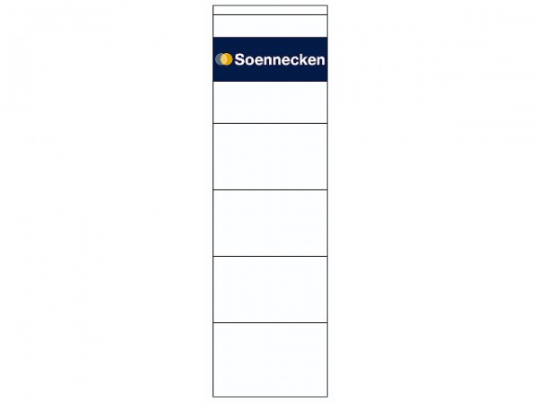 Rüschi f. 1080 breit/kurz selbstklebend weiß 10 St./Pack ,62x192 mm, Soennecken
