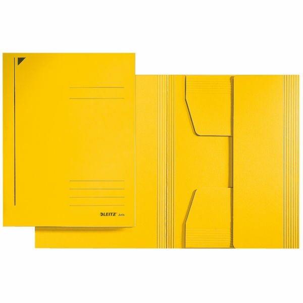 Jurismappen A4 Leitz gelb mit 3 Jurisklappen am Unterdeckel