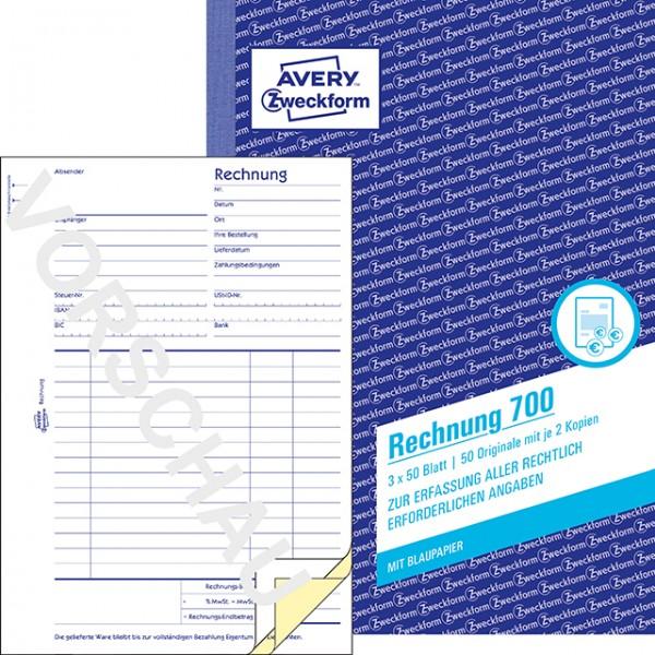 Zweckform Rechnung A5 3X50 Blatt