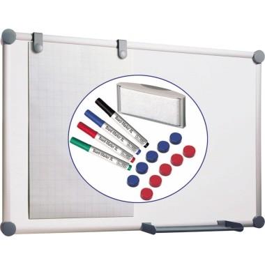 Whiteboard 120x90cm 2000 MAULpro weiß magnethaftend / Rahmen Aluminium