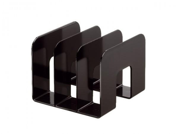 Katalogsammler Durable TREND schwarz 3 Fächerunterteilung von 65mm, Stehsammler