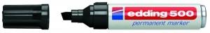Edding 500 Permanentmarker schwarz Nr. 01 Keilspitze Strichstärke: 2-7 mm 305030490