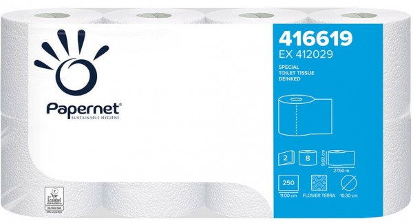 Toilettenpapier 2-lagig Tissue weiss 250BL./Rolle 64 Rollen/Pack / ***Sonderangebot netto***