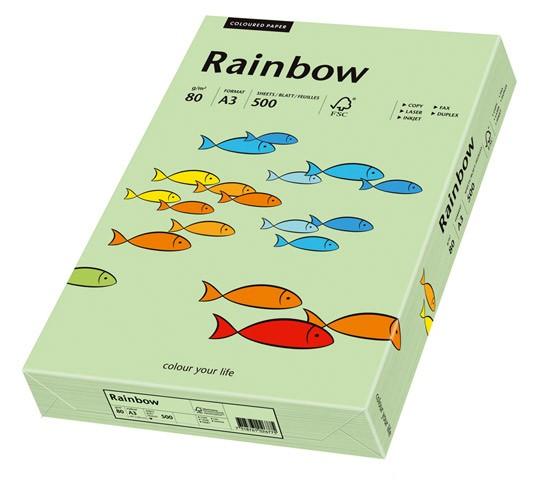 Kopierpap. A3 80g/m² mittelgrün 500 Bl./Pack Rainbow