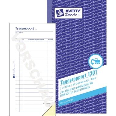 Zweckform Tagesrapport 10,5x20cm 2x 50 Blatt **Restposten, begrenzte Menge**