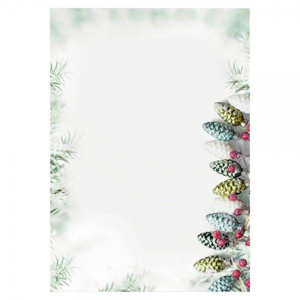 Designpapier A4 90g/m² Christmas Garland 100 Bl./Pack , Weihnachtsmotiv