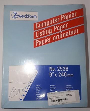 """EDV-PAPIER 6""""X240MM 2-FACH LP SD Packung 500 Sätze"""