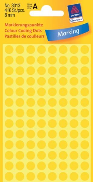 Etiketten 8mm gelb 416 St./Pack Markierungspunkt