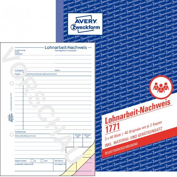 Zweckform Lohnarbeit-Nachweis A5 3x 40 Blatt SD **Restposten, begrenzte Menge**