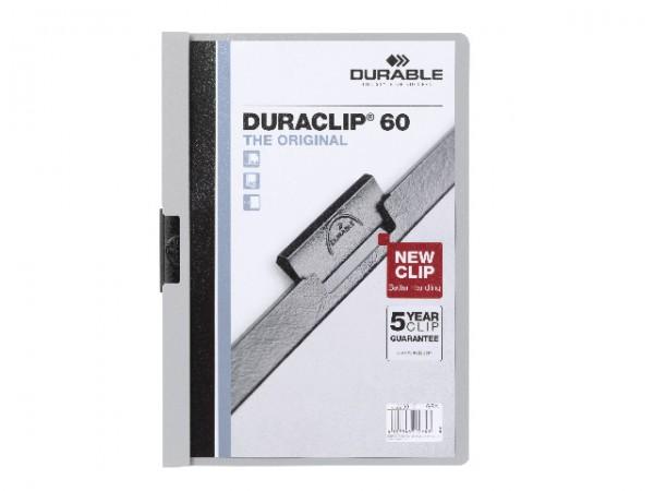 Klemmappen A4 Duraclip 60 für 60 Blatt grau 10