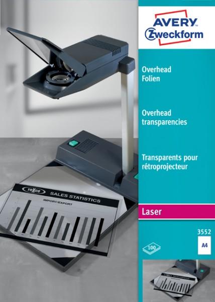 Folie Laser A4 Overhead Folie transparent 100 Blatt