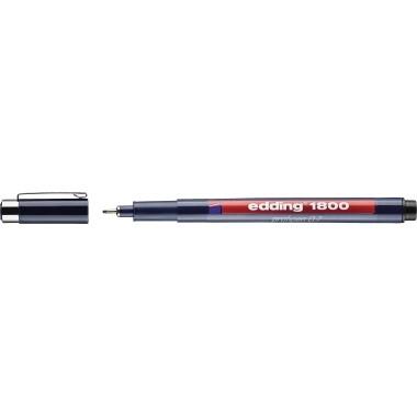 Faserschreiber 1800 Profipen 0,7mm schwarz Strichstärke: 0,7 mm