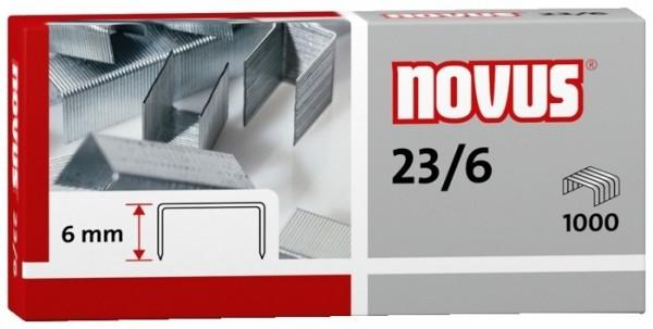 Heftklammern 23/6 verzinkt 1000 St./Pack Heftleistung: 30 Bl. (80 g/m²) NOVUS