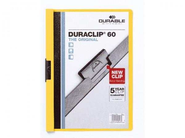 Klemmappen A4 Duraclip 60 für 60 Blatt gelb 04 **Restposten, begrenzte Menge**