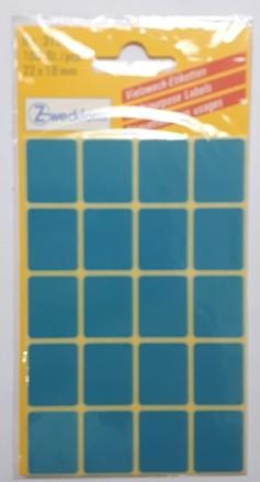 Etiketten 22x18mm blau 100 St./Pack **Restposten,begrenzte Menge**