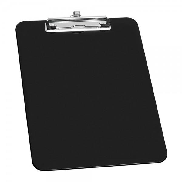 Klemmbrett A4 Kunststoff schwarz mit Stiftehalter