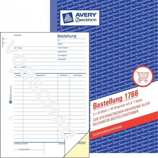 Zweckform Bestellung A5 2X40 Blatt SD