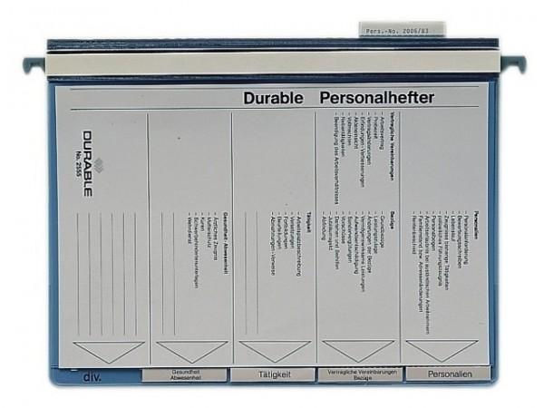 Personalhefter A4 Durable blau 5-fach Unterteilung