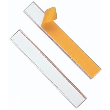 Schildfix 20x1,5cm (BxH) selbstklebend transparent Beschriftungsschild, 10 St./Pack