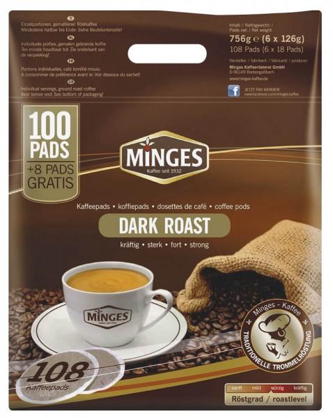 Kaffeepads MINGES PREMIUM DARK ROAST 108 St./Pack