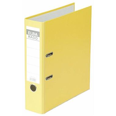 Ordner A4 Elba rado brillant 80 mm gelb Präzisionsmechanik