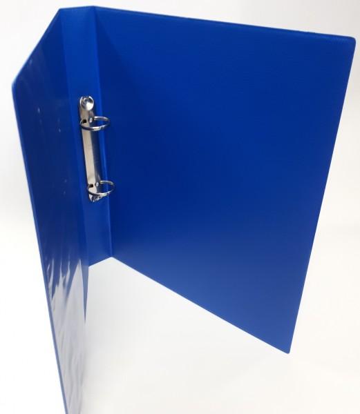 Ringbuch. A4 2-Ring Füllhöhe 30 mm blau Reissmechanik