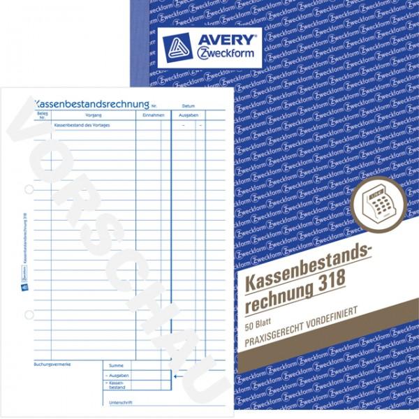 Zweckform Kassenbestandsrechnung A5 50 Blatt