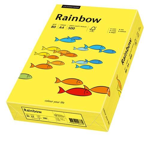 Kopierpap. A4 80g/m² mittelgelb (14) 500 Bl./Pack Rainbow / Tecno Colors