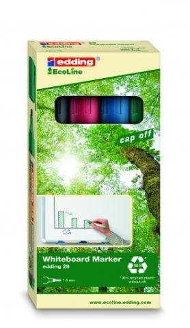 Edding Whiteboardmarker 29 EcoLine 4 St./Pack rot, blau, grün, schwarz