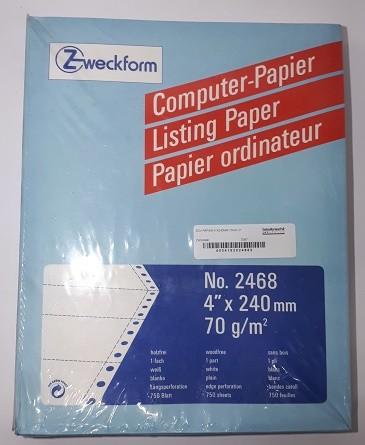 """EDV-PAPIER 4""""X240MM 70GR LP Packung 750 Blatt"""