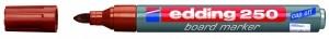 EDDING BOARDMARKER 250 BRAUN 1.5-3MM NACHFÜLLBAR/BT30 / RUNDSPITZER Inhalt 10 Stück