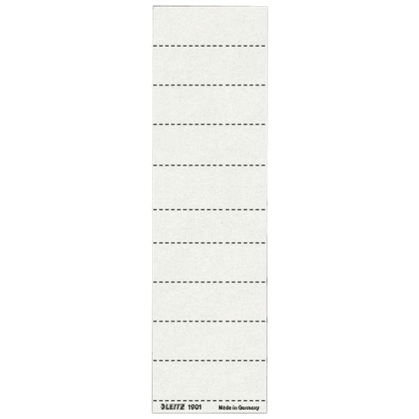 Hängemap. Schild 60X21mm weiß Nr.01 100 St./Pack f.Vollsichtreiter 6114,6115,6116,6124