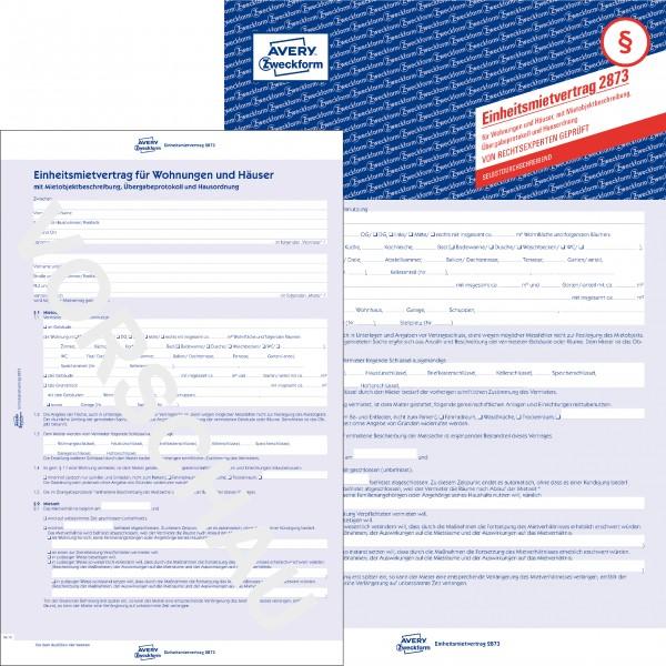 Zweckform Einheitsmietvertrag A4 5-seitig SD für Wohnung und Häuser