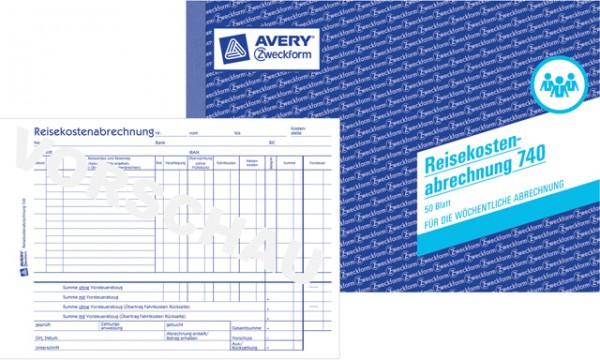 Zweckform Reisekostenabrechnung A5 quer 50 Bl. für wöchentliche Abrechnung, Kfz-Kostenaufstellung