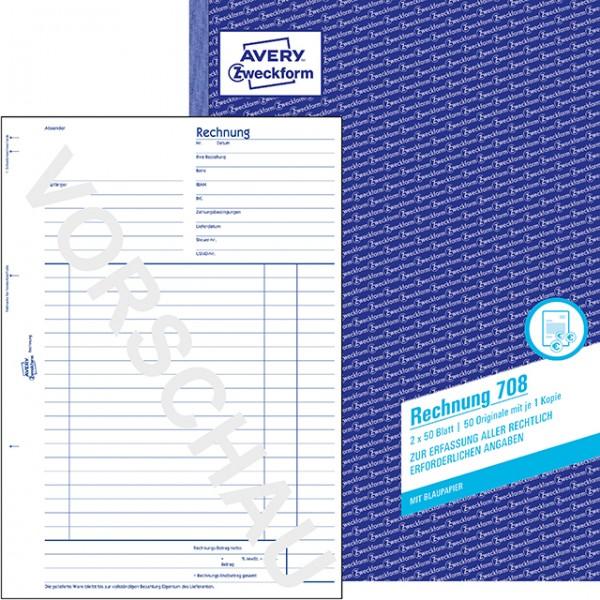 Zweckform Rechnung A4 2x 50 Blatt **Restposten, begrenzte Menge **